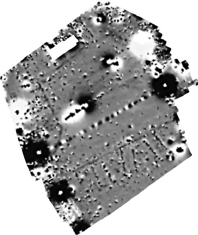 greyscale image of magnetometry from Aldbourne